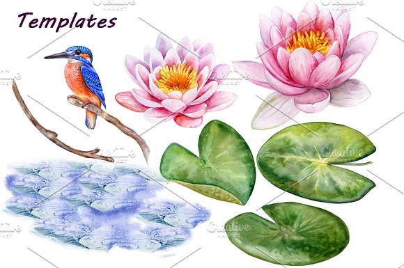 Koi carps. Water lilies in Patterns - product preview 6