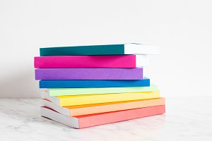 Colorful collection of the books
