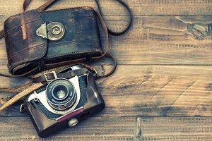 Vintage analoge photo camera