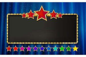 Marquee banner with stars