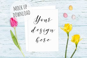 Horizontal Easter Card Mockup