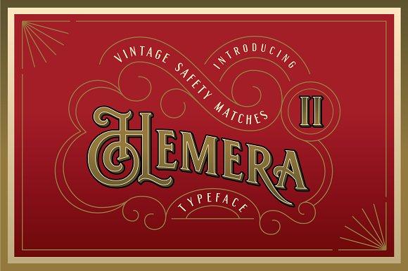 Hemera II Vintage Decorative Font