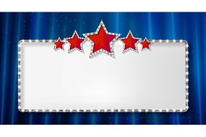 Set Marquee banner with stars