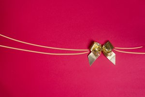 Stylish gold bow glittering