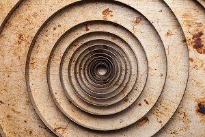 Metal clock spiral