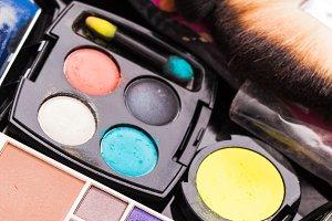 Cosmetics set close up