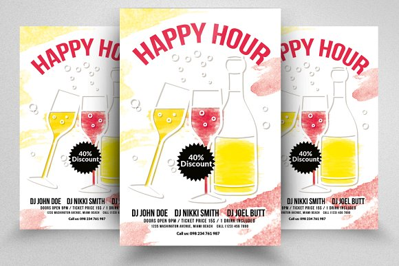 Happy Hour Flyers Poster