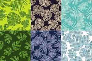 Pattern with Palm leaves.