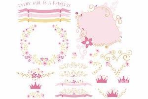 Pink & Gold Floral Designs