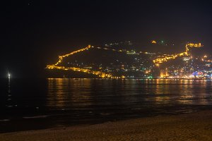 Alanya in the night