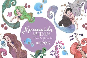 Mermaids watercolor magic!