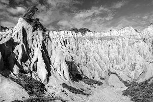 sandstone cliffs in fine art b & w