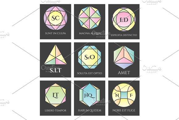 Geometric Logo Shapes Set
