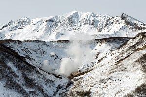 Geothermal valley, hot springs