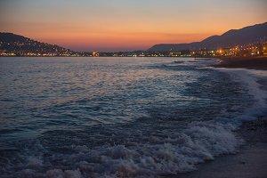 Evening at Alanya coast
