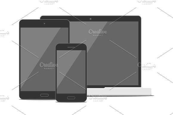 Phone, Tablet and Laptop Mockup