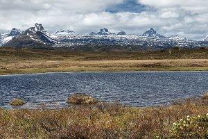 Spring panorama mount lake landscape