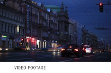 Time lapse effect of city life