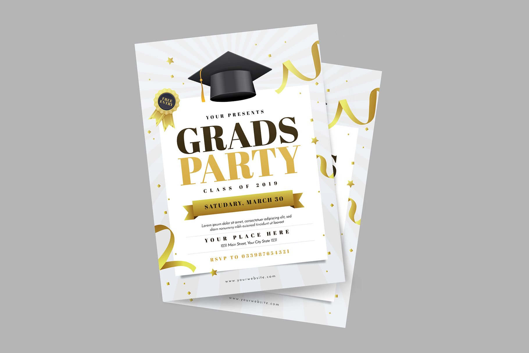 Graduation Party Flyer - Flyer Templates | Creative Market Pro