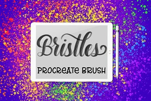 Bristles Procreate lettering brush