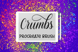 Crumbs Procreate lettering brush
