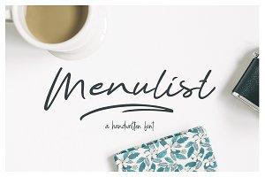 Menulist Typeface