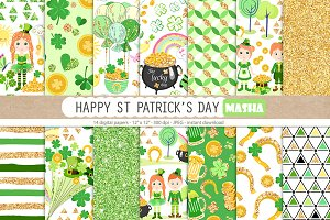 HAPPY ST PATRICK'S DAY digital paper