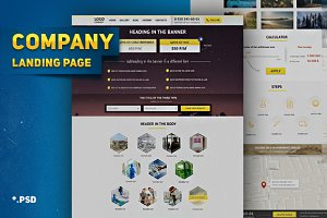Landing page company, business