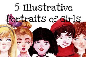 Illustrative Portraits of Girls