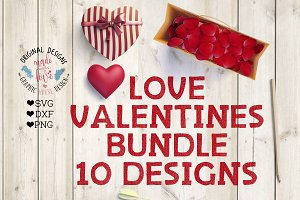 Love Valentines Bundle 10 Designs