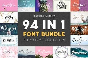 94 IN 1 Font Bundle SALE