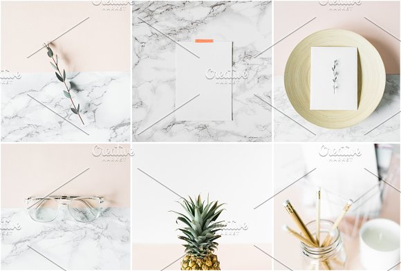 Modern Blush Wedding Bundle  in Product Mockups - product preview 1