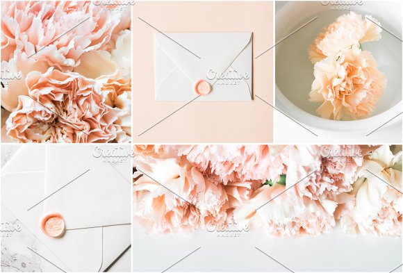 Modern Blush Wedding Bundle  in Product Mockups - product preview 2