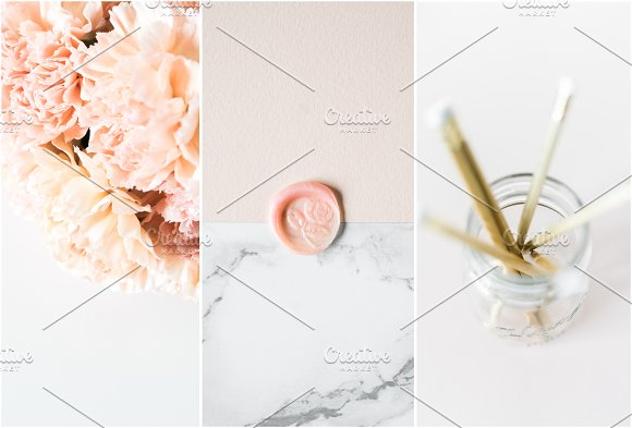 Modern Blush Wedding Bundle  in Product Mockups - product preview 3