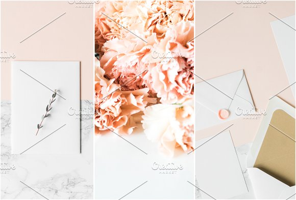 Modern Blush Wedding Bundle  in Product Mockups - product preview 6