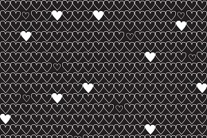 Heart line seamless pattern