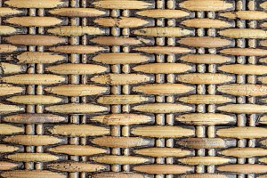 Natural woven rattan background