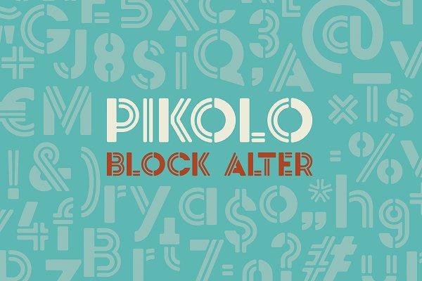 Pikolo Block Alter Font