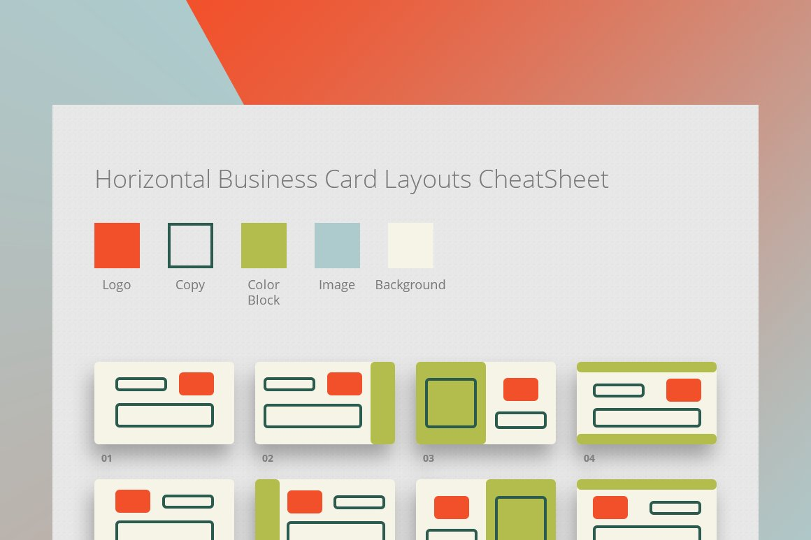 285 Business Card Layouts CheatSheet ~ Business Card Templates ...
