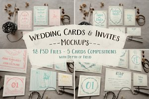 Rustic Wedding Invitation Mockup