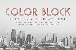 Color Block Font