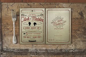 Vintage Hand Lettering Wedding Suite