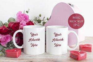 Double Mug Mockup-Valentine