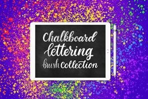 Chalkboard lettering brushes