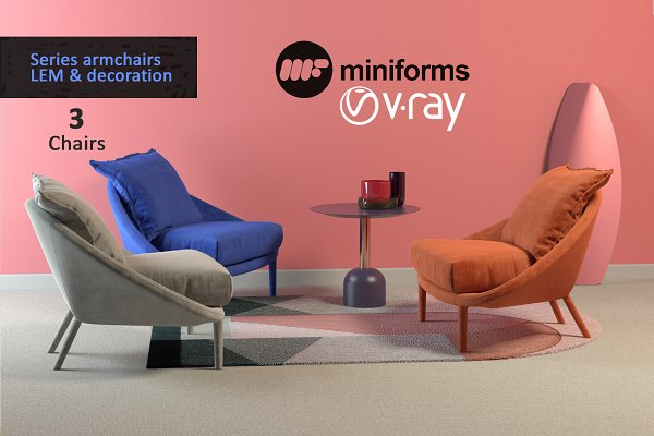 3D Models: Vista 3d - Armchair LEM collection & decor
