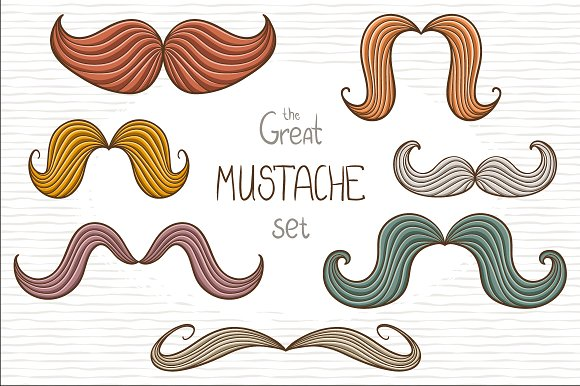 The great mustache set