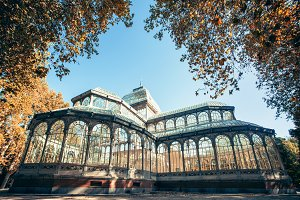 Madrid Crystal Palace in Retiro park