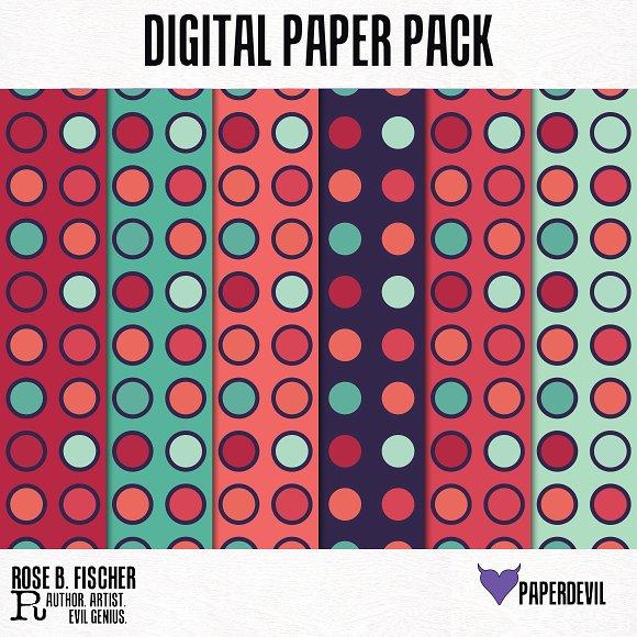 Digital Paper Pack: Be Bold 2 Circle