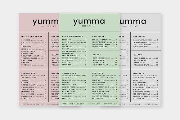 Yumma Menu Design Template