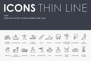 War thinline icons